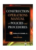 Construction Operations Manual of Policies & Procedures with CD Rom