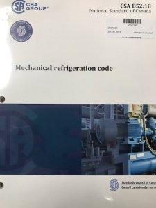CSA B52 Mechanical Refrigeration Code