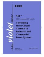 Violet Book Standard 551 – 2006 Calculating Short Circuit Currents in Industrial and Commercial Power Systems